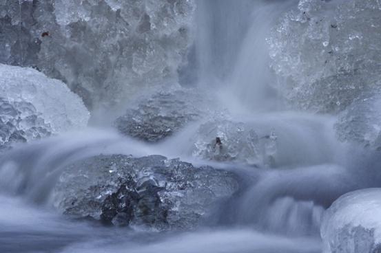 waterfall winter water
