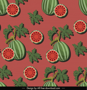 watermelon pattern flat classical repeating design