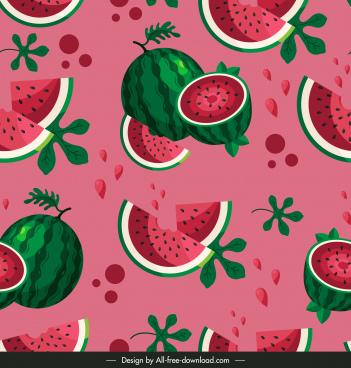watermelon pattern template colored retro design