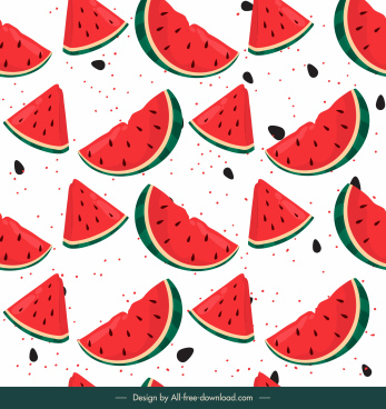 watermelon pattern template slices sketch classic handdrawn