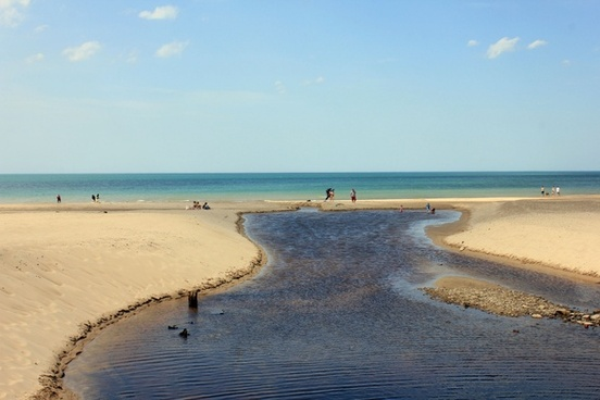 waterway into lake at indiana dunes national lakeshore indiana