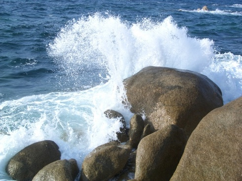 wave coast blue