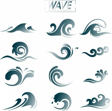 wave design elements curved lines decoration