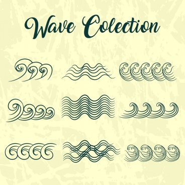 wave design elements curved lines isolation