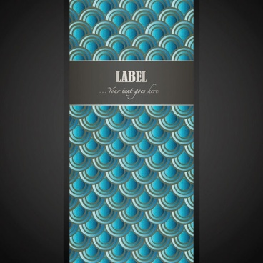 wave pattern vector label