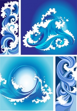 waves decorative elements dynamic curved decor