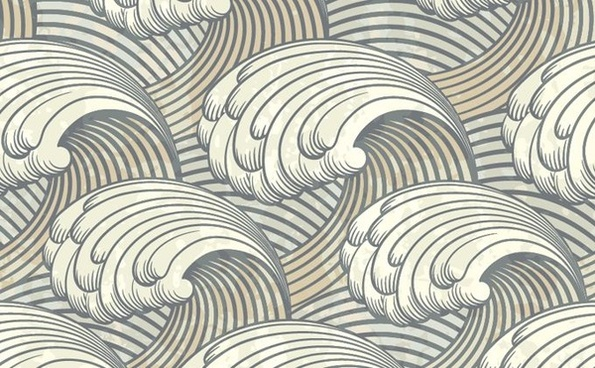 waves background classical closeup decor curves sketch