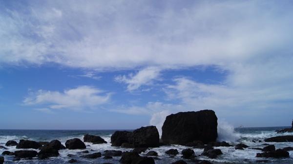waves rocks sea