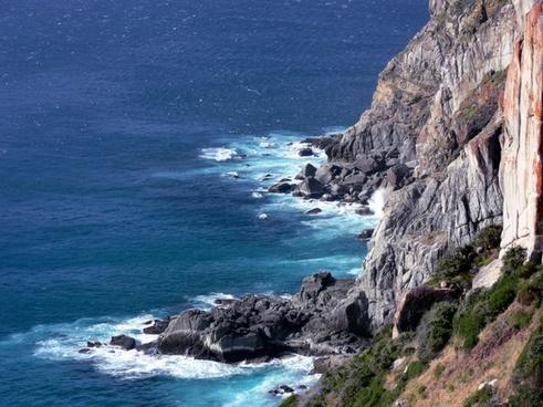 waves sea rocky