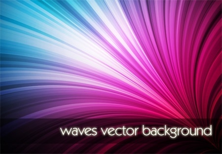 colorful bright waves background shiny twinkling curves design