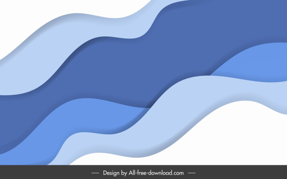 waving background template bright colorful dynamic curves sketch