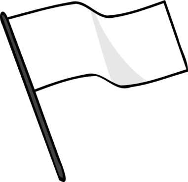 Waving White Flag clip art