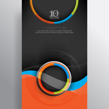 wavy abstract business vector template