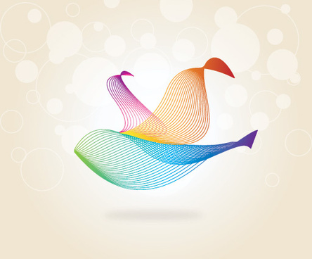 wavy bird vector graphic