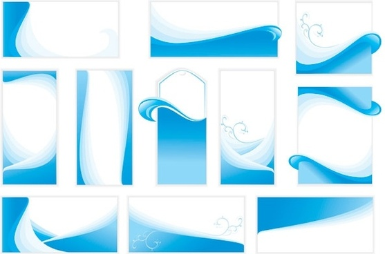 wavy line card background vector