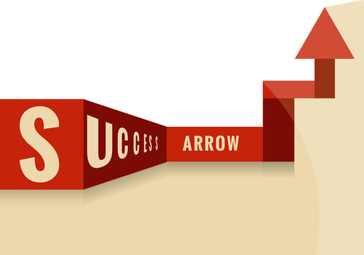 way to success arrow