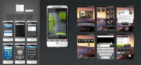 wds android gui full psd source file