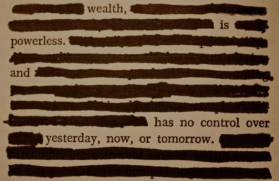 wealth is powerless