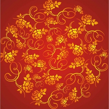 wealth rose pattern background