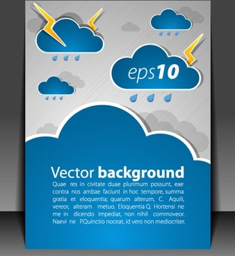 weather effects card 03 vector