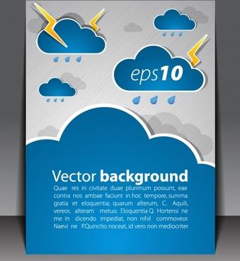booklet cover template rain design elements flat design