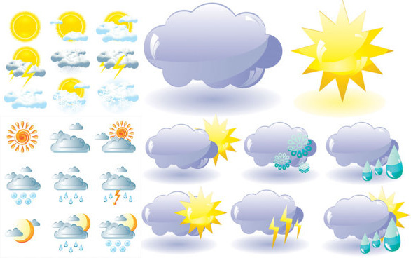 weather icon vector vector
