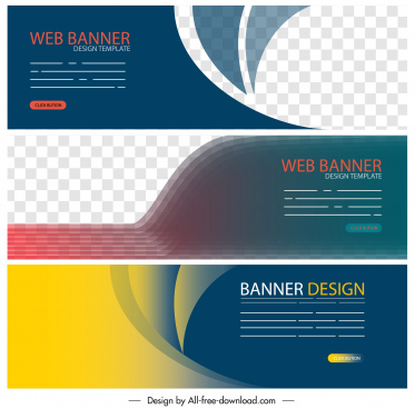 web banner templates elegant colorful modern technology decor