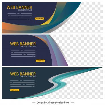 web banner templates modern abstract elegant decor