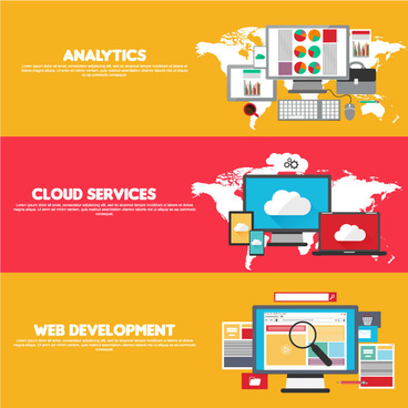 web cloud services infographics