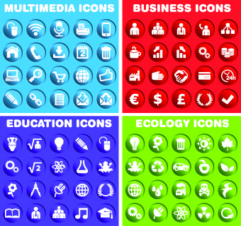 web common icons vector set