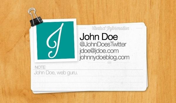 Web Contact Cards