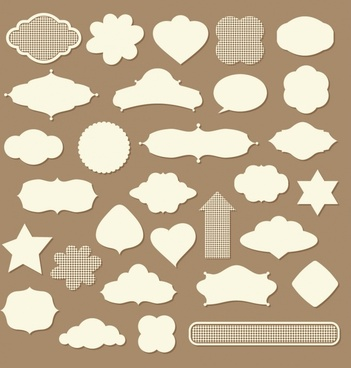 decorative tags templates paper cut shaped decor