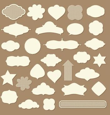 decorative tags templates paper cut shaped decor