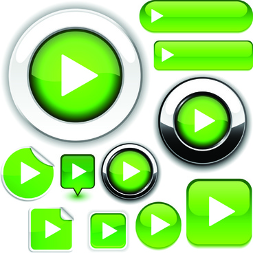 web design elements buttons and stickers vector set