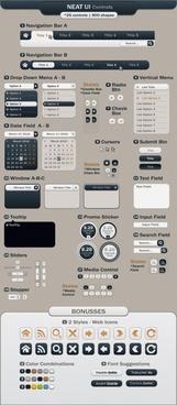 web design elements modern flat shapes