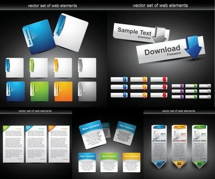 web design module button vector