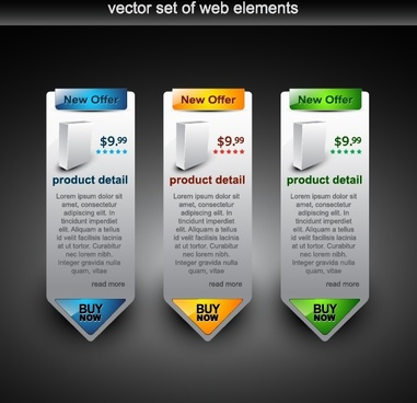 web navigation design elements modern vertical tags sketch