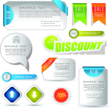 web elements vector illustration set