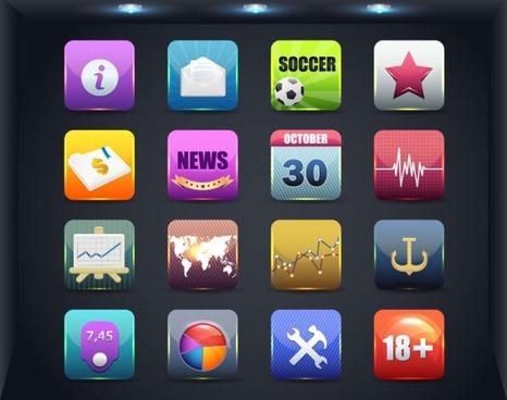 web icon button 01 vector