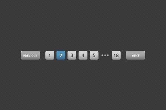 web paging button elements psd download