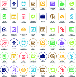 web seo icons vector