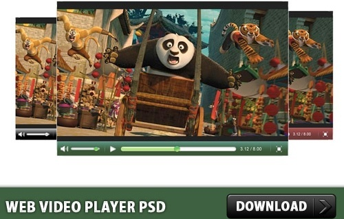 Web Video Player PSD