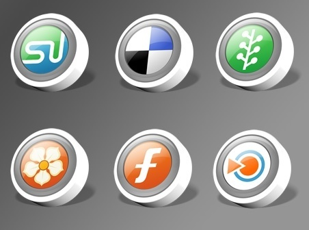 WebDev Social Networking Icon Packs