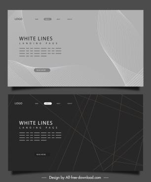 webpage background templates dark modern monochrome lines decor