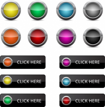webpage button sets shiny colorful ornament