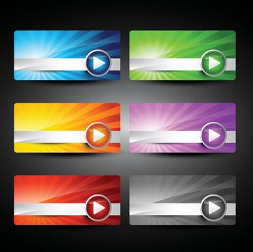 webpage design decorative element set 1