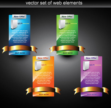 webpage design decorative element set 2