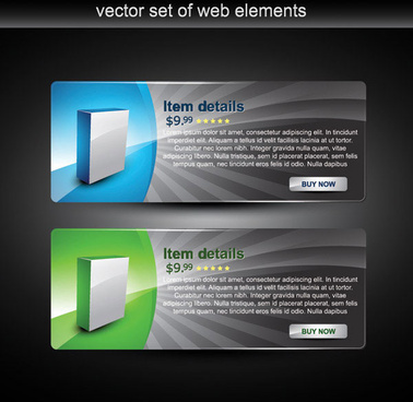 webpage design decorative element set 4