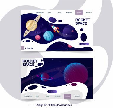 webpage template universe elements decor