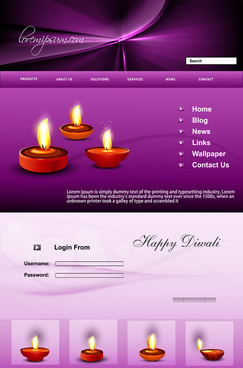 website beautiful stylish happy diwali template colorful festival background vector